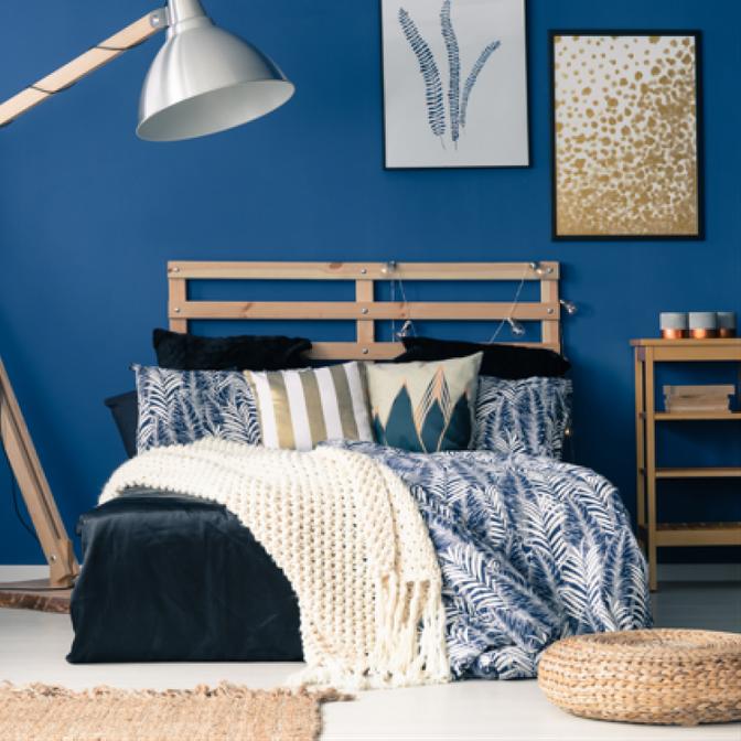 Купить Кресло синее с подушками